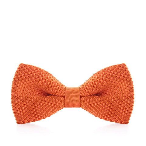 """Citrus"" Pre-Tied Knitted Bow Tie"