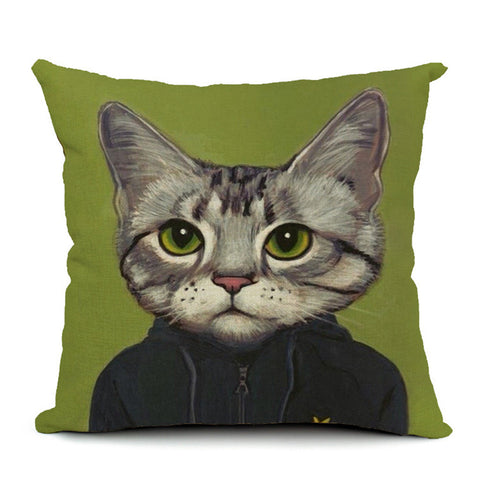 Cool Cat Throw Pillow (inserts included)