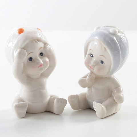 Adorable Baby Figurines - Set of Two