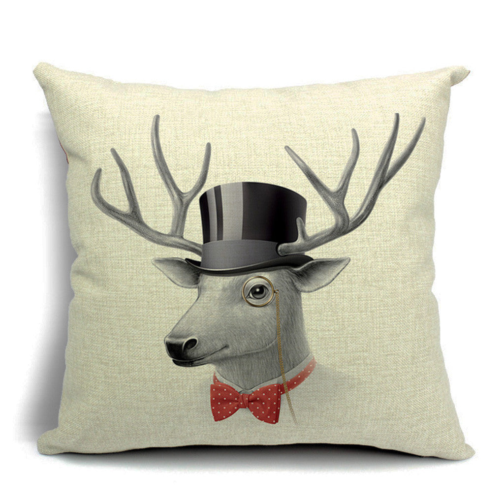 Dandy Deer Throw Pillow (inserts included)
