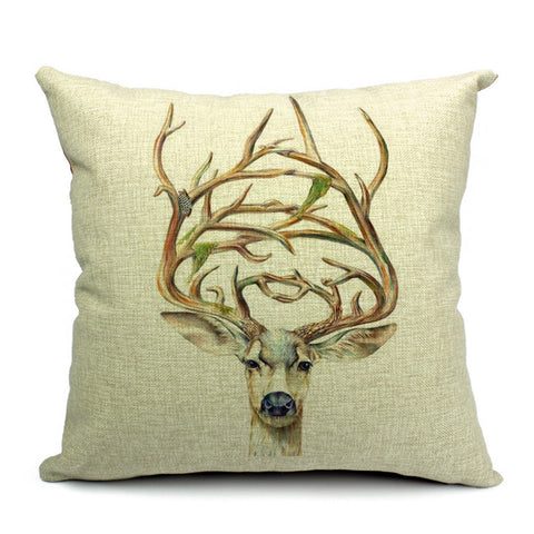 Deer Throw Pillow (inserts included)