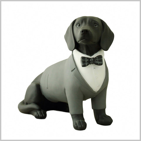 "10"" Dachshunds in Black Tie Sculpture"