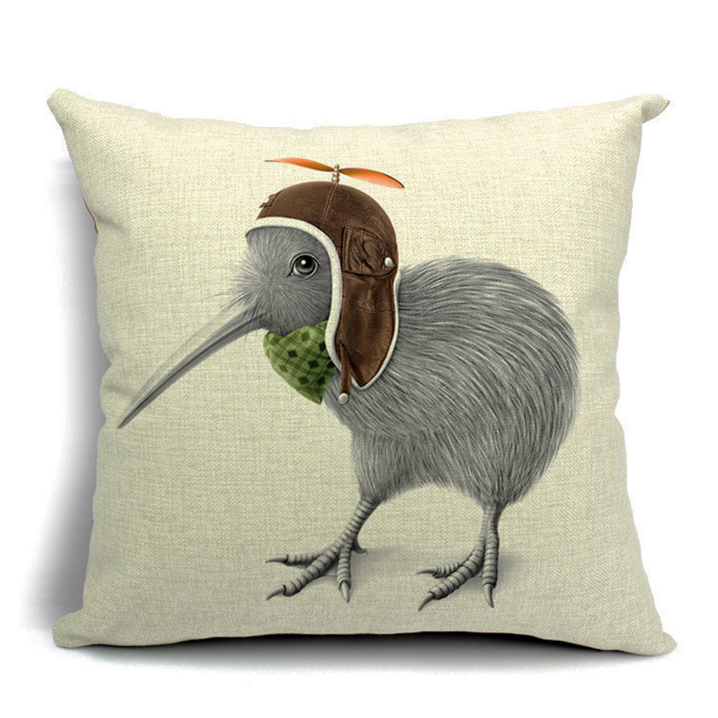 Flying Kiwi Throw Pillow (inserts included)