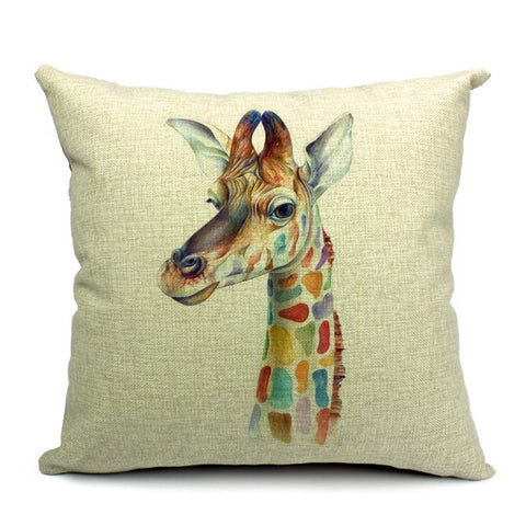 Giraffe Throw Pillow (inserts included)