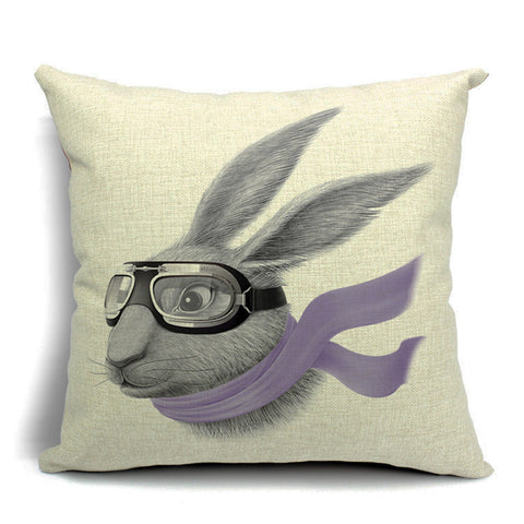 Hare In The Wind Throw Pillow (inserts included)