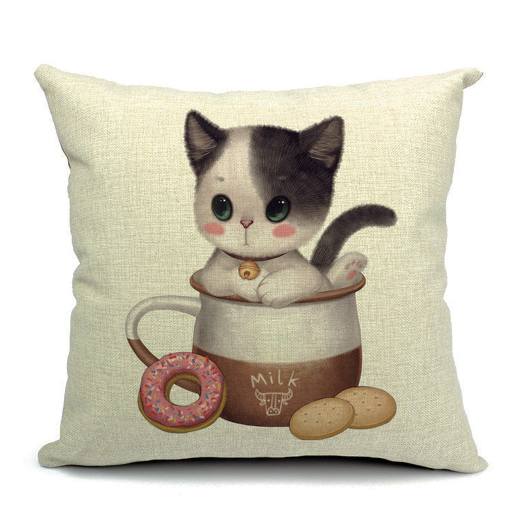 Kitten Kup Throw Pillow (inserts included)