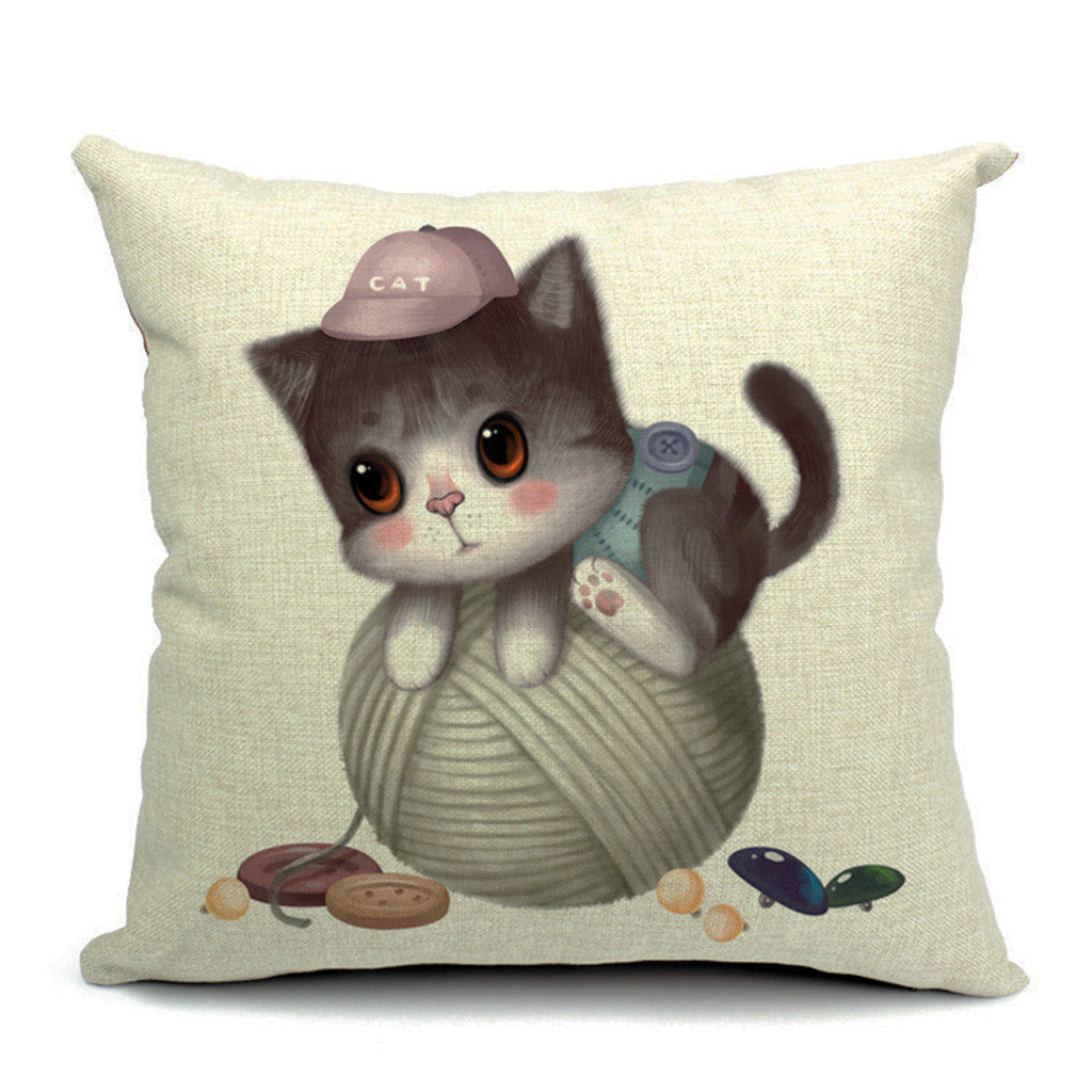 Kitty Ball Throw Pillow (inserts included)