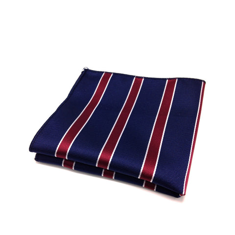"""Preppy Red & Blue"" Pocket Square"