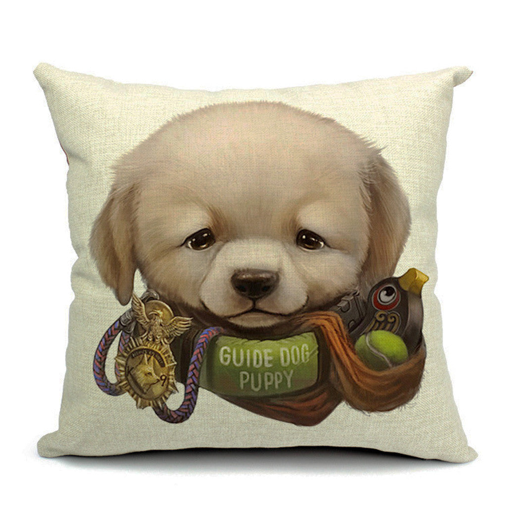 Pup In Trainin' Throw Pillow (inserts included)