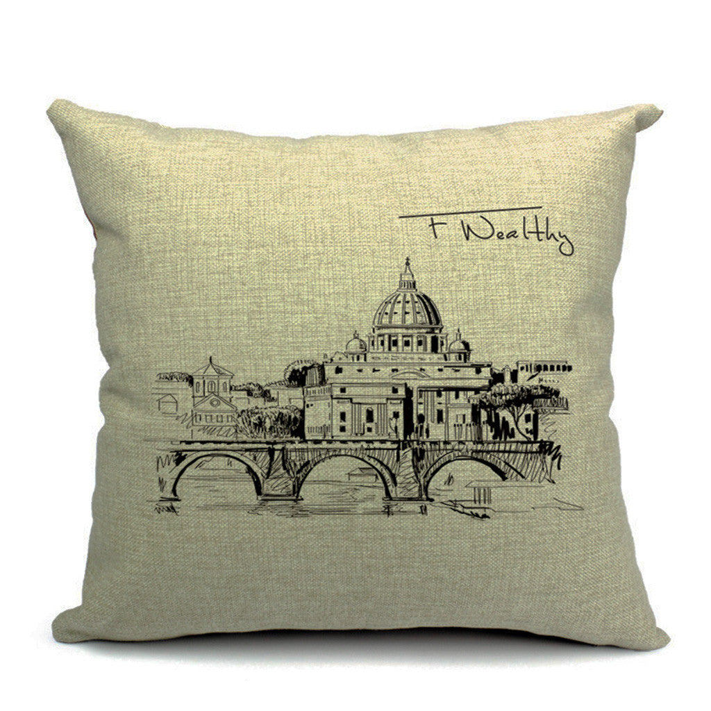 St. Peter's Basilica Throw Pillow (inserts included)