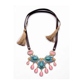 """Tassels & Gems"" Drop Necklace"