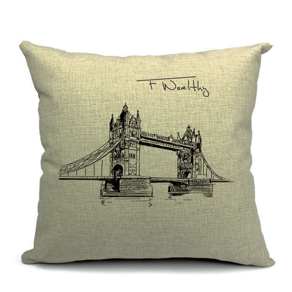 Tower Bridge Throw Pillow (inserts included)