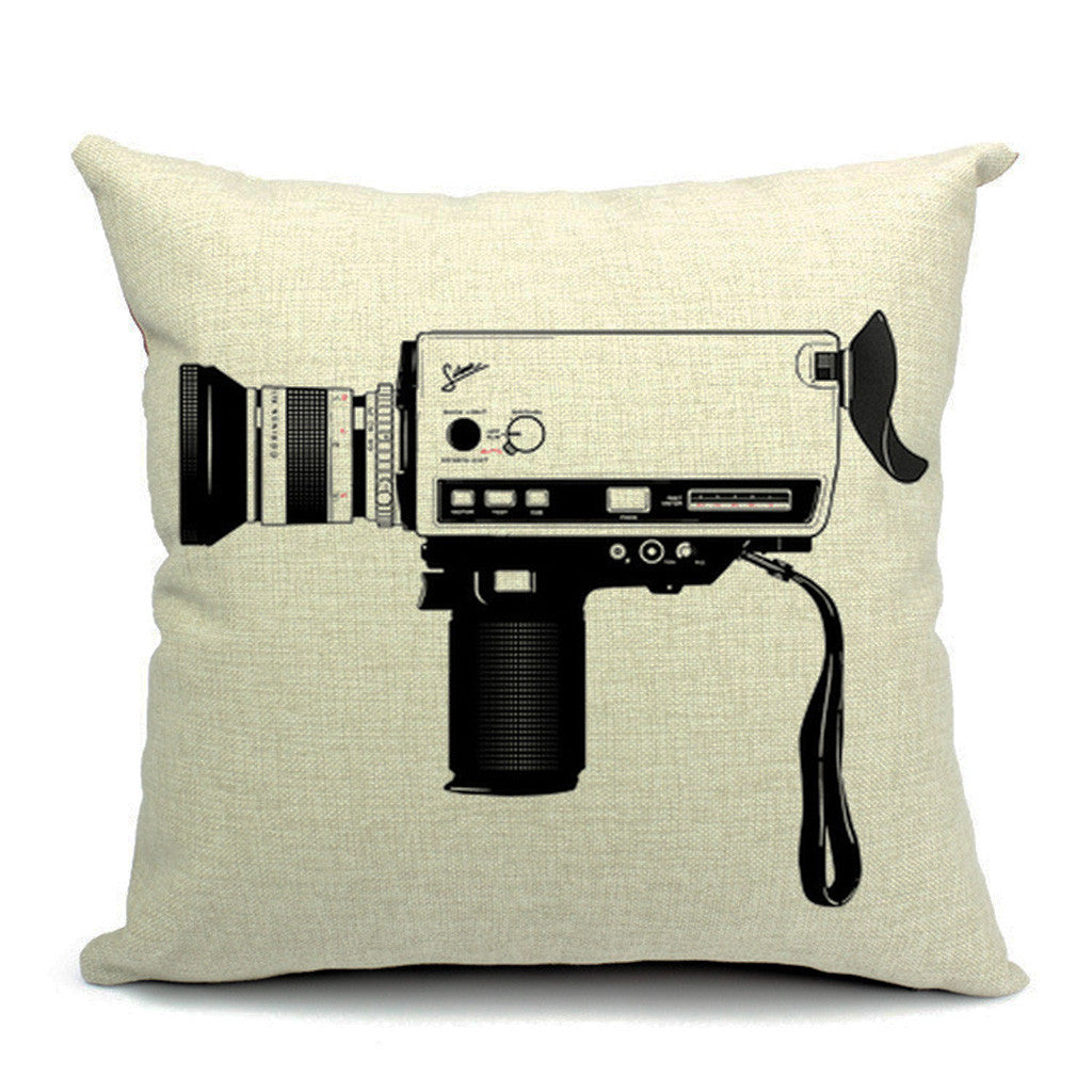 Vidcam Throw Pillow (inserts included)