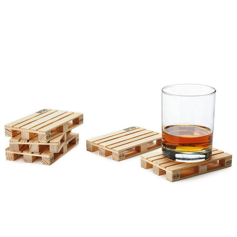 Shipping Pallet Wood Coasters - Set of Four