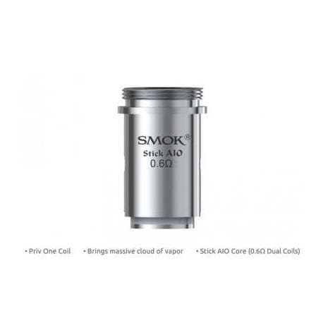 SMOK Stick AIO 0.6ohm - Replacement Coils Compatible with Priv One Kit - Mistwood Vape Café