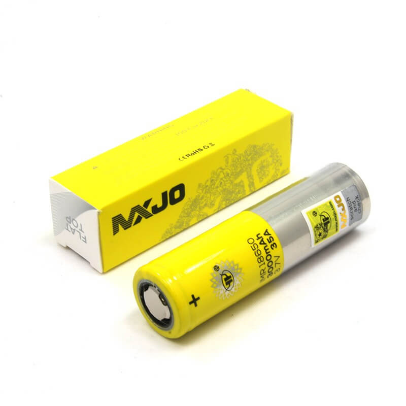 MXJO Yellow 18650 (Single; Authentic) - Mistwood Vape Café