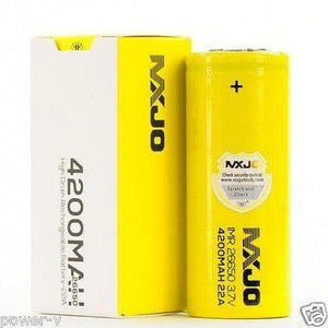 MXJO Yellow 26650 (Single; Authentic) - Mistwood Vape Café