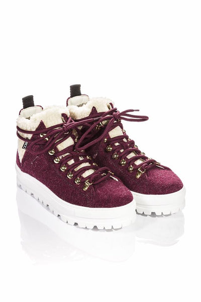 SNEAKERS WOOL BORDO