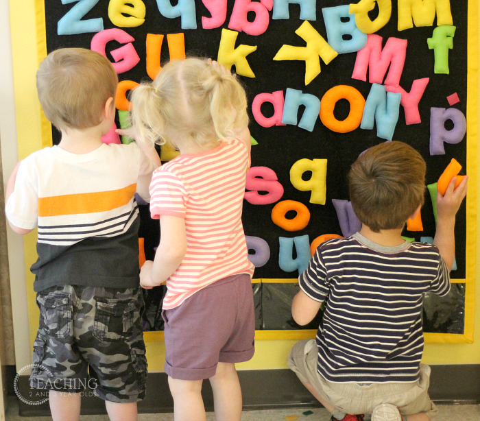 Teaching the alphabet to toddlers through play