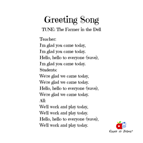 preschool song greeting song