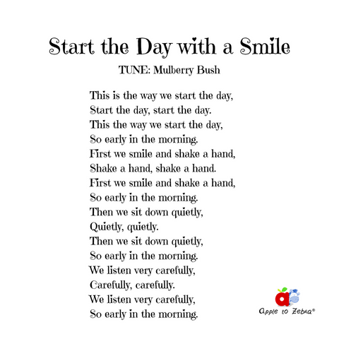 preschool song start the day with a smile