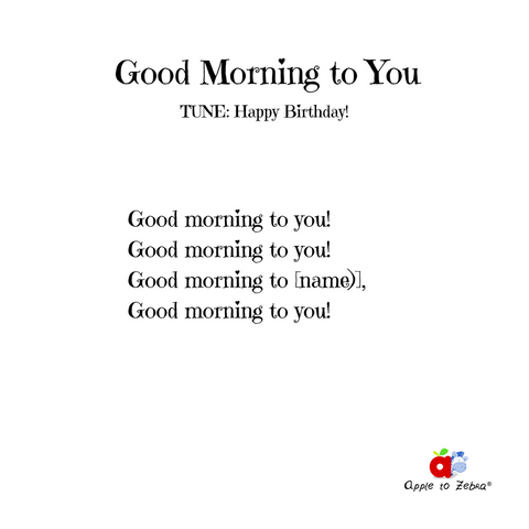 preschool song good morning to you