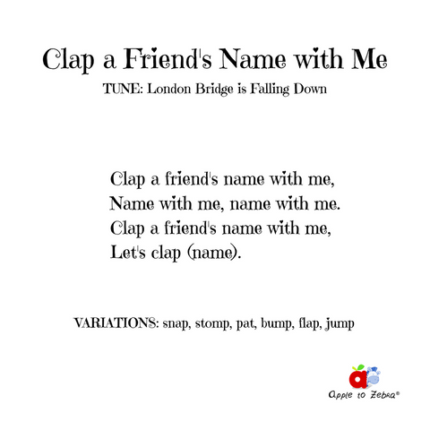 preschool song clap a friend's name with me