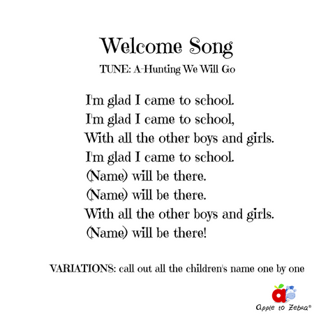 preschool song welcome song