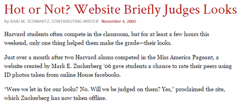http://www.thecrimson.com/article/2003/11/4/hot-or-not-website-briefly-judges/