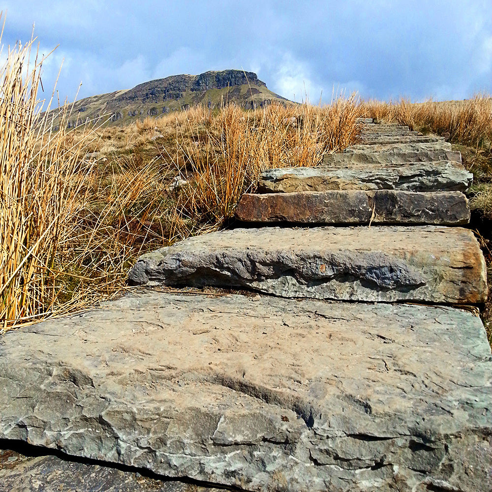 Three Peaks flagstone path
