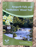 Image shows front cover of Aysgarth Falls and Freeholders Wood Trail leaflet