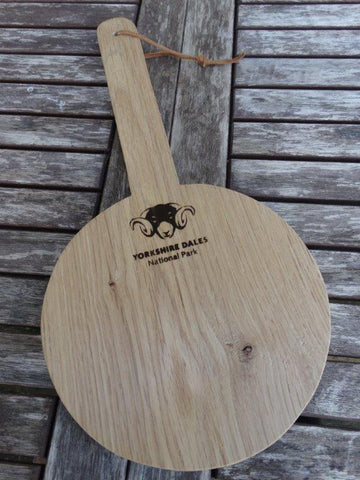 Solid Oak Paddle Board with Yorkshire Dales National Park Logo