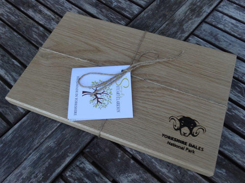 Solid Oak Chopping Board with Yorkshire Dales National Park Logo