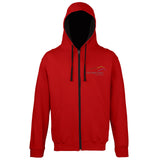 Three Peaks Full Zip Contrast Hoodie (other colours are available)