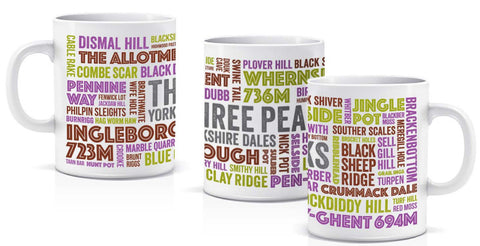 Three Peaks ceramic mug - NEW DESIGN