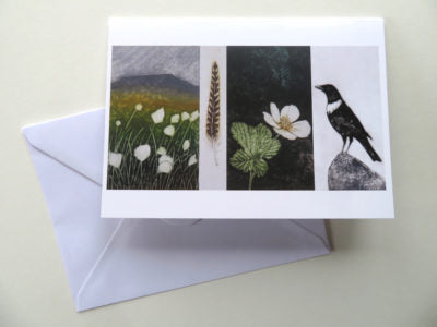 Waymarks: Plover Hill & Pen-y-Ghent Card by Hester Cox