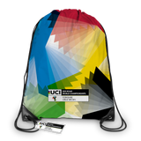 Swirling Rainbow Y Drawstring Bag