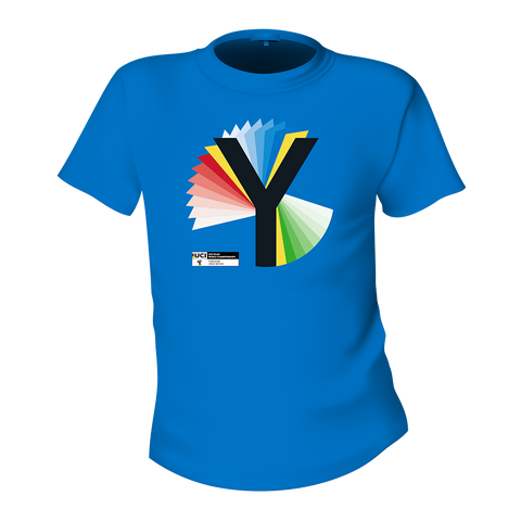 Rainbow Y T Shirt - Blue