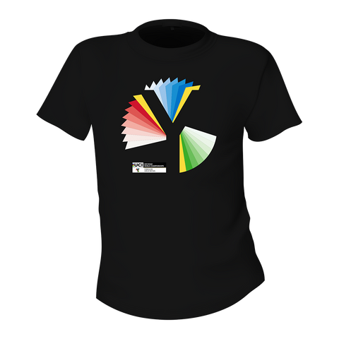 Rainbow Y Kids T Shirt - Black