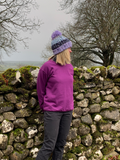 Yorkshire Dales National Park Sweatshirt - Plum. WAS £20, NOW £14