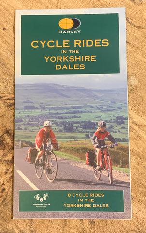 Image shows front cover of Cycle Rides map