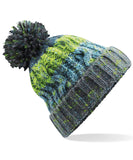 Image shows electric grey colour pom pom beanie hat