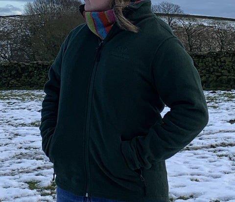 Yorkshire Dales National Park Fleece - Forest Green - WAS £25, NOW £17.50