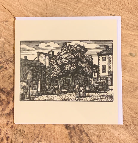 Grassington Woodblock Card (Part of the Dales Countryside Museum collection)