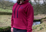 Yorkshire Dales National Park Hoodie - Burgundy / Navy  - WAS £25, NOW £17.50