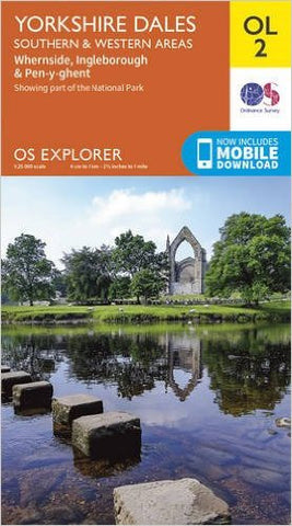 Image shows front cover of OS Explorer Map OL2 South & West Area