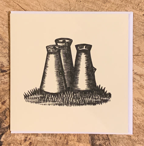 Milk Churns Woodblock Card (Part of the Dales Countryside Museum collection)