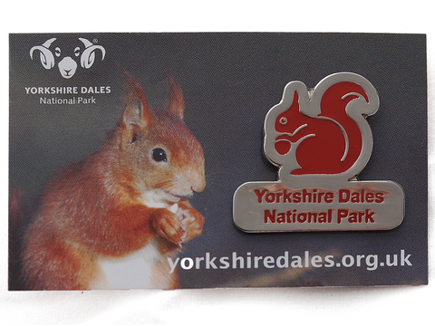 Red Squirrel Lapel Badge
