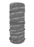 Image shows grey neckwear with Yorkshire Dales Three Peaks Logo on
