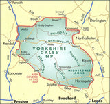 Image shows map of Yorkshire Dales area covered by the map